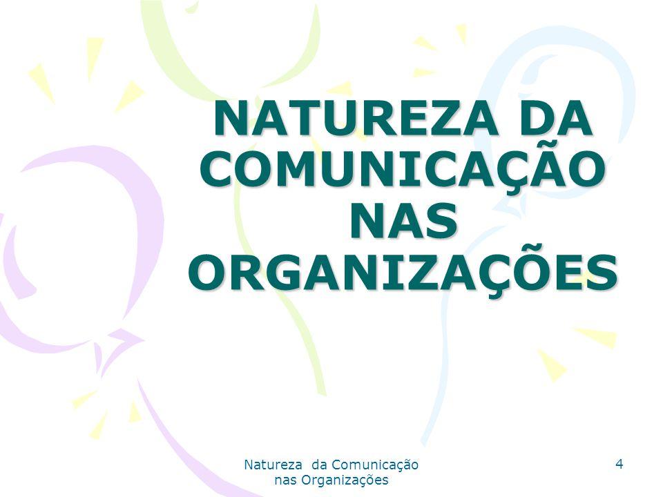 Natureza da Comunicação nas Organizações 4 NATUREZA DA COMUNICAÇÃO NAS ORGANIZAÇÕES