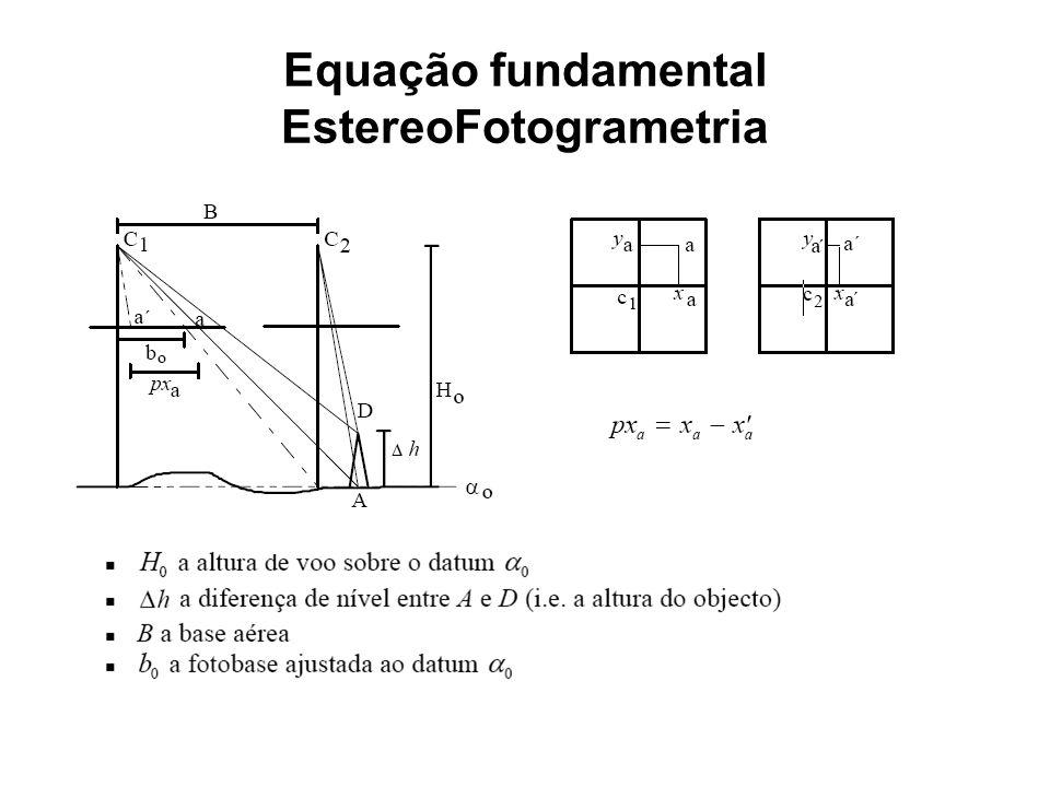 Equação fundamental EstereoFotogrametria