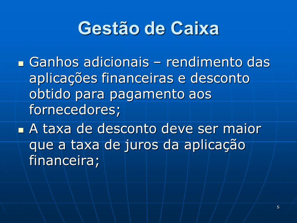 46 Uso dos Indicadores Os indicadores financeiros e não financeiros a serem utilizados devem ser definidos no momento do Planejamento Financeiro; Necessitam de acompanhamento mensal.