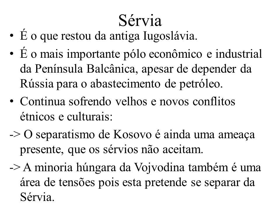 É o que restou da antiga Iugoslávia.