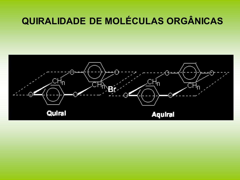 QUIRALIDADE DE MOLÉCULAS ORGÂNICAS