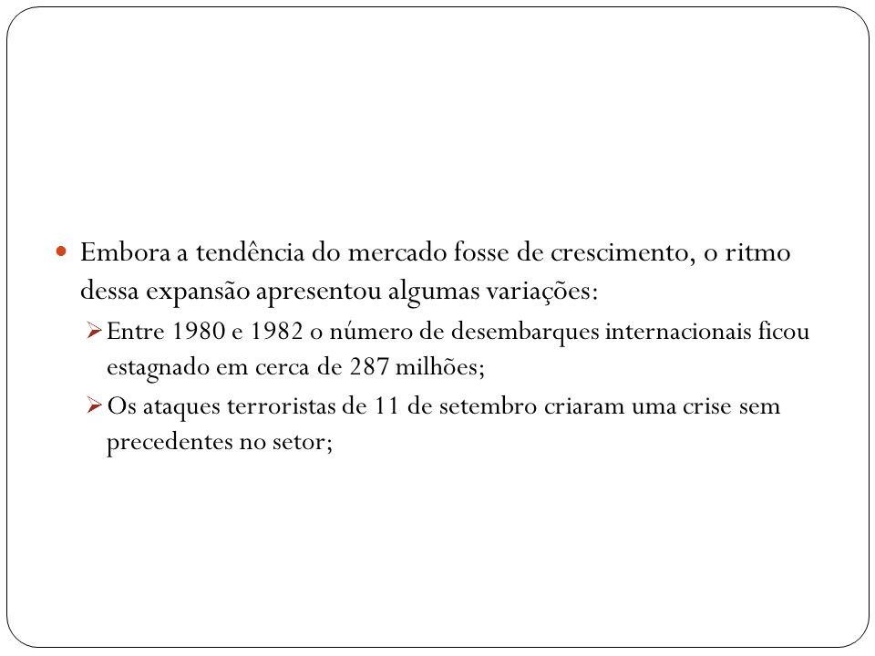 Especificidades e Características das Doze Maiores Redes Internacionais em Operação no Brasil Maiores operadoras ocupam o Brasil em 2006 Segmentação do mercado (conceito de marcas) Investimento em empreendimentos de grande porte, voltado ao segmento de médio e alto poder aquisitivo Custos operacionais elevados e estratégia centralizada Empreendimentos com menos de 40 UHs continuaram sendo operados por proprietários independentes.