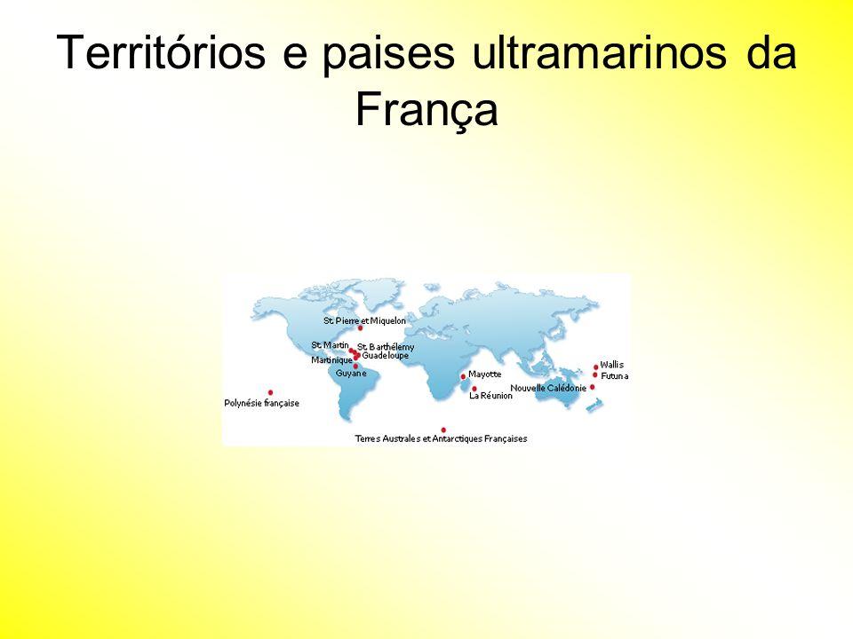 Territórios e paises ultramarinos da França