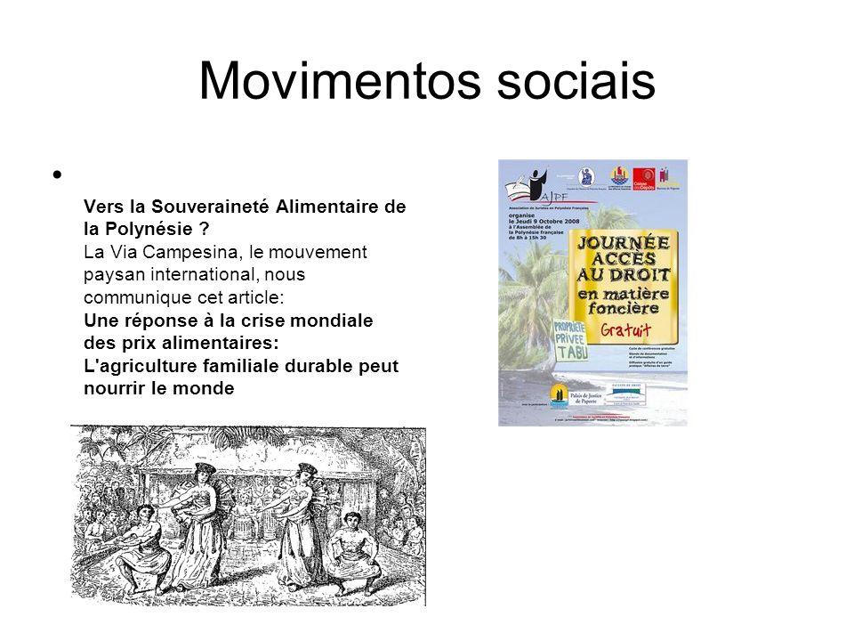 Movimentos sociais Vers la Souveraineté Alimentaire de la Polynésie ? La Via Campesina, le mouvement paysan international, nous communique cet article