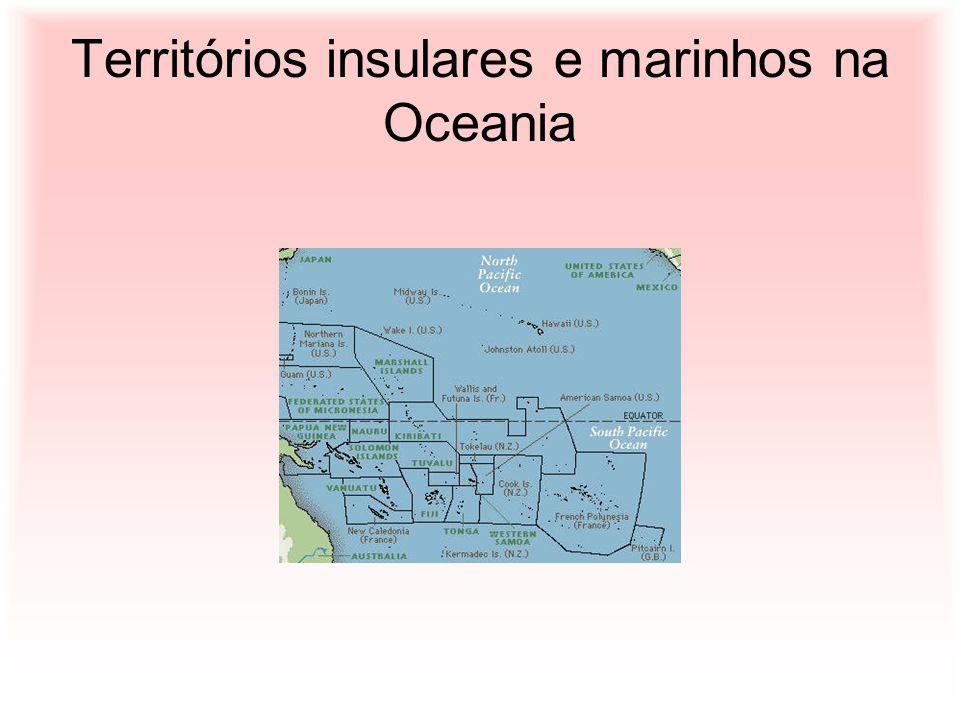 Territórios insulares e marinhos na Oceania