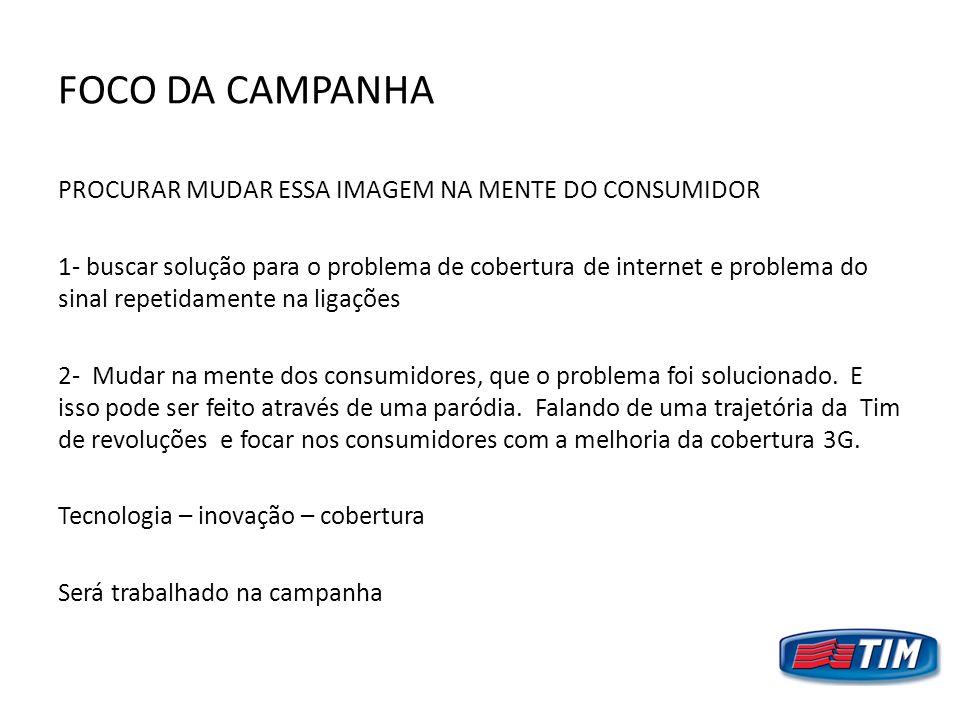 FOCO DA CAMPANHA PROCURAR MUDAR ESSA IMAGEM NA MENTE DO CONSUMIDOR 1- buscar solução para o problema de cobertura de internet e problema do sinal repe