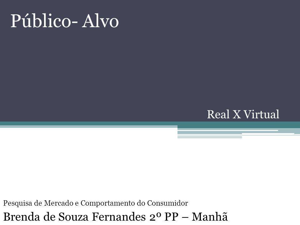 Público- Alvo Real X Virtual Brenda de Souza Fernandes 2º PP – Manhã Pesquisa de Mercado e Comportamento do Consumidor