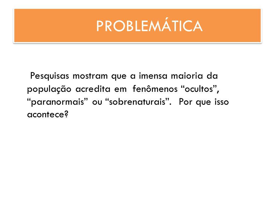 PROBLEMÁTICA Pesquisas mostram que a imensa maioria da população acredita em fenômenos ocultos, paranormais ou sobrenaturais. Por que isso acontece?