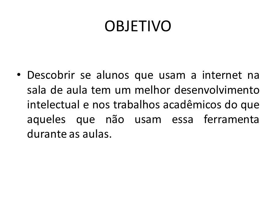 PERGUNTAS É possível conciliar o acesso a internet com a atenção devida que o aluno deve dar ao professor.
