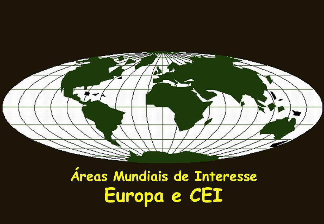 CARACTERIZAÇÃO DA ÁREA Área: 10.349.915 km² Forma: Mista 48 países Lim E: Montes Urais e Mar Cáspio, Cáucaso e Mar Negro