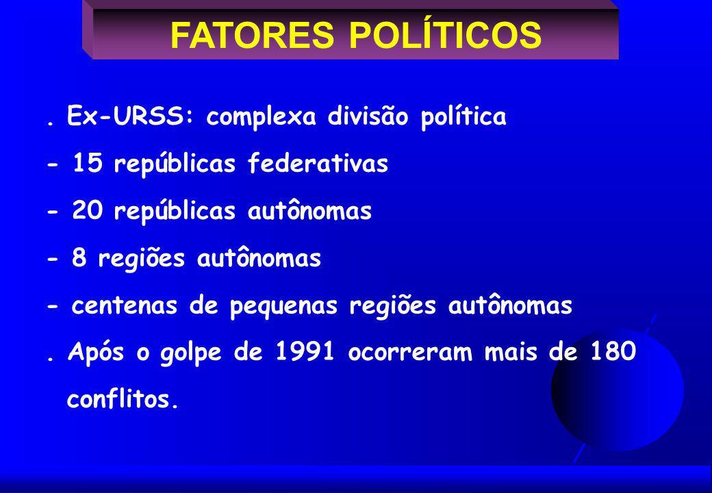 FATORES POLÍTICOS.
