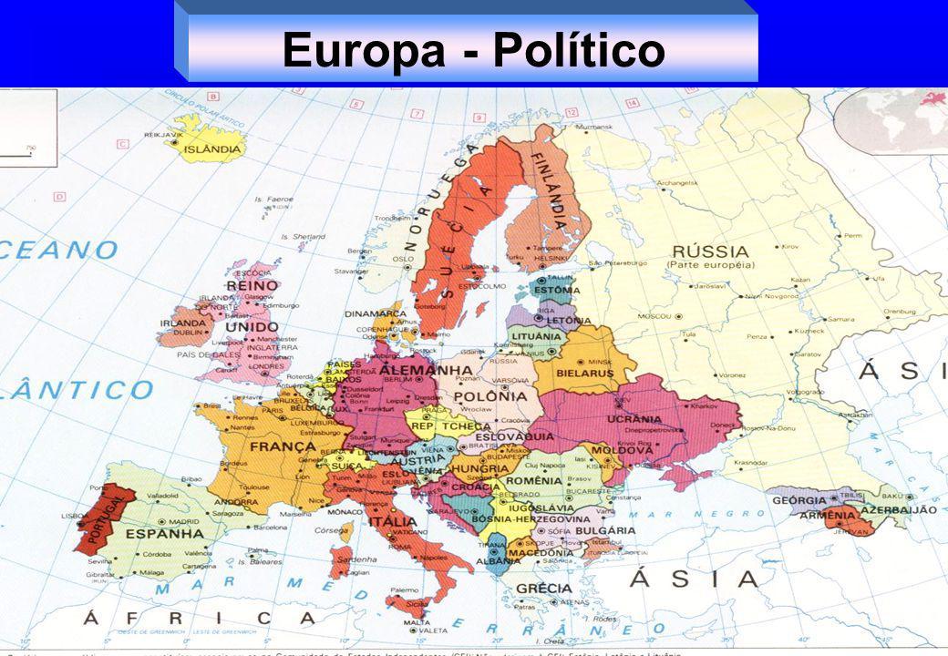 Influência dos EUA CECA – união entre os estados europeus Tratado de Mastricht – 1992 – 15 países UE 1º Bloco econômico Novas adesões Moeda única – 2002.