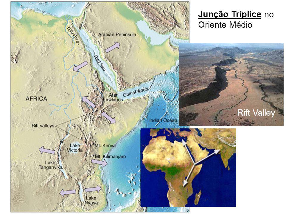 Junção Tríplice no Oriente Médio Rift Valley