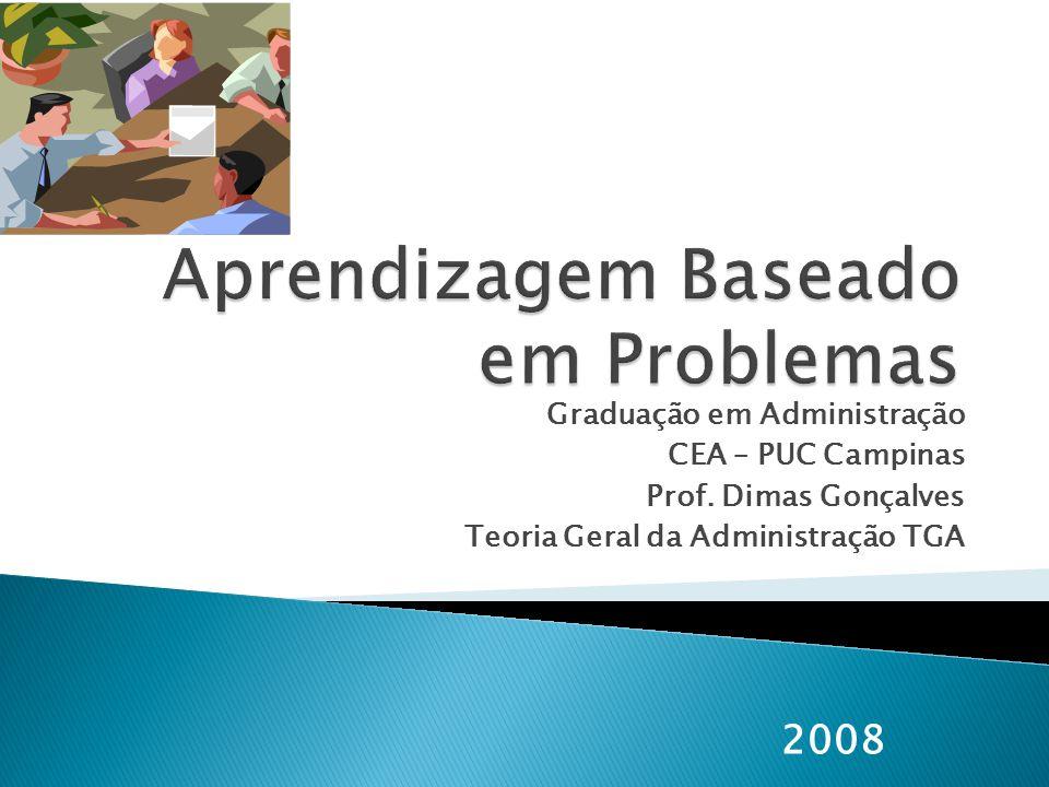 Graduação em Administração CEA – PUC Campinas Prof. Dimas Gonçalves Teoria Geral da Administração TGA 2008