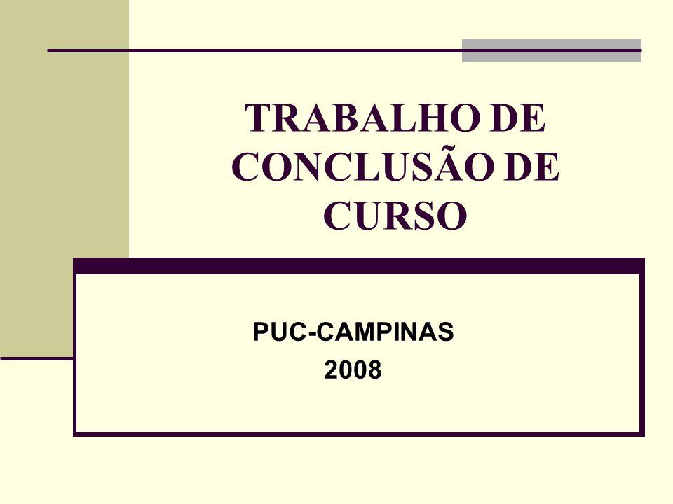 TRABALHO DE CONCLUSÃO DE CURSO PUC-CAMPINAS2008