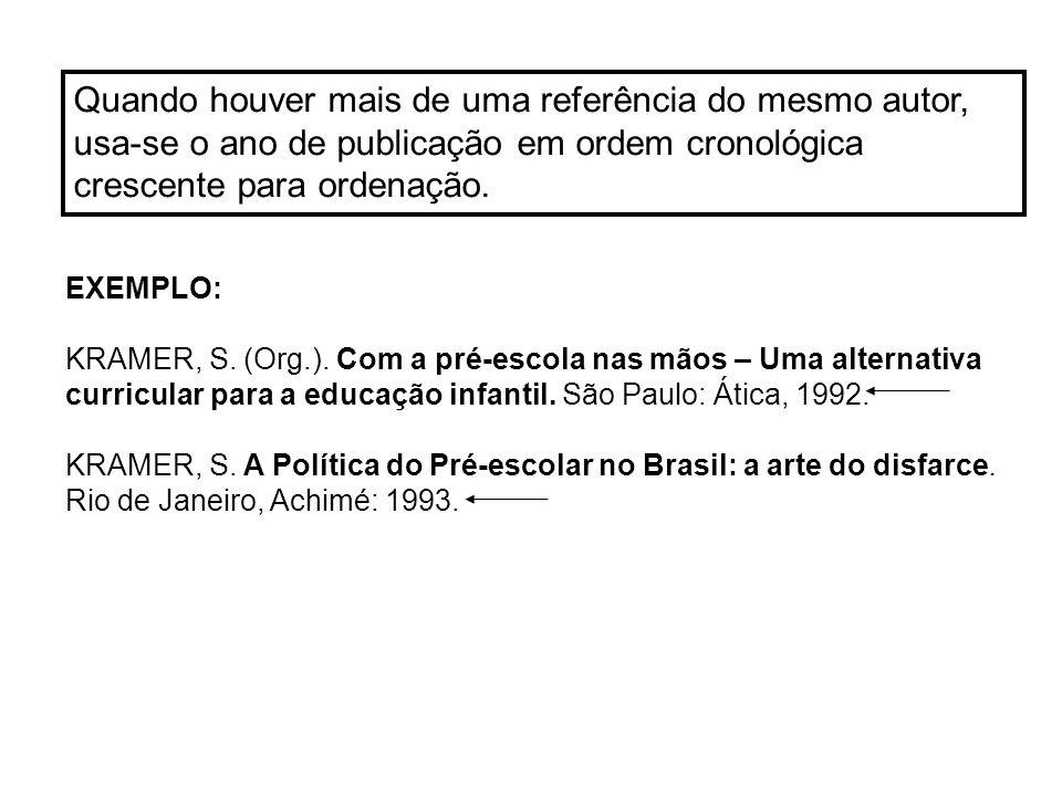 EXEMPLOS DAS NORMAS Dissertações e teses: PINHEIRO, M.