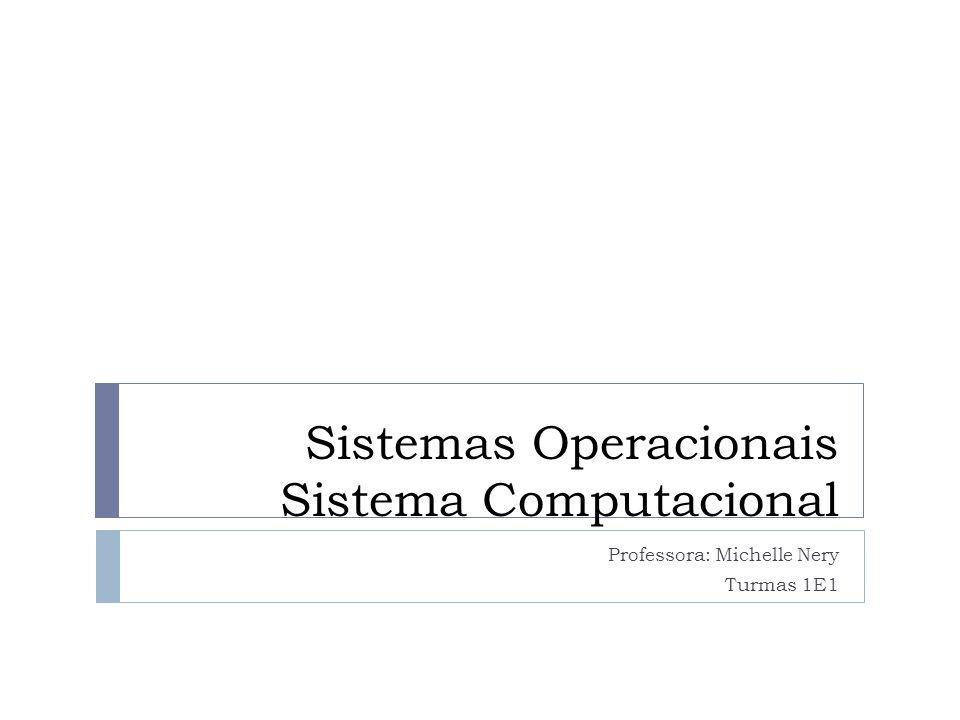 Sistemas Operacionais Sistema Computacional Professora: Michelle Nery Turmas 1E1