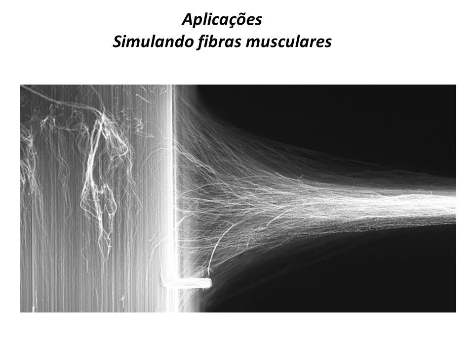 Aplicações Simulando fibras musculares