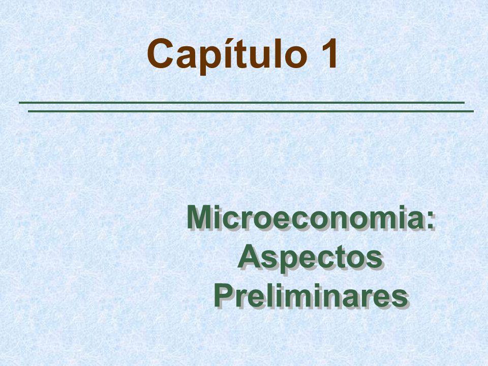 Capítulo 1 Microeconomia: Aspectos Preliminares