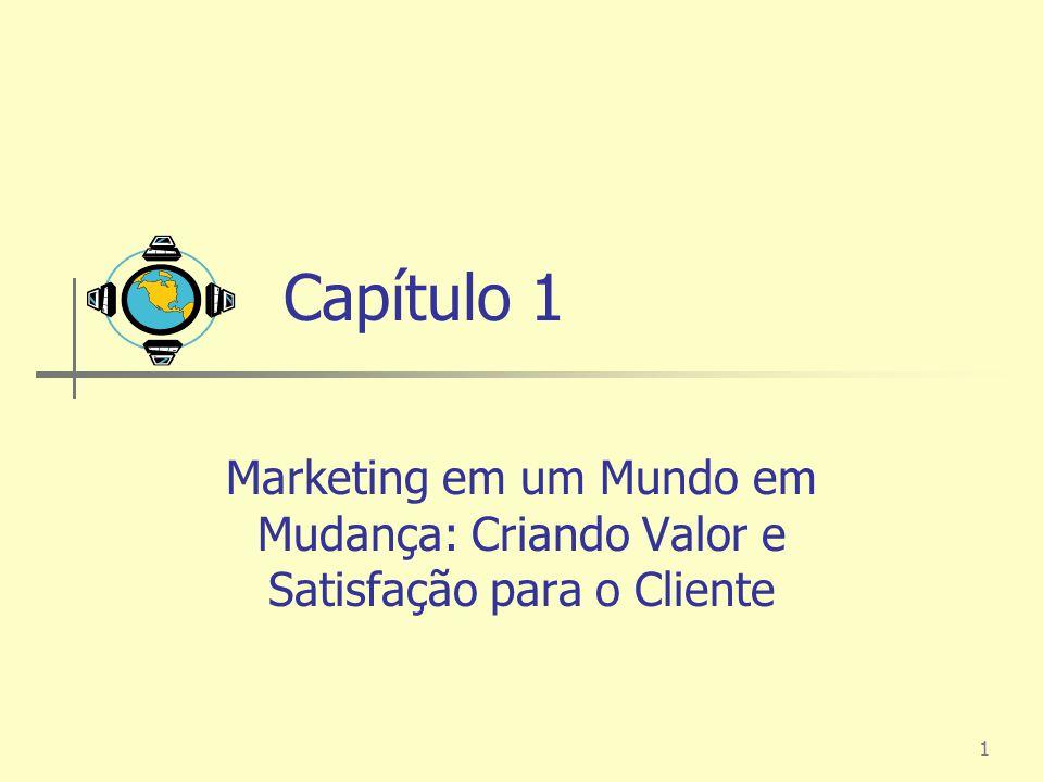 1 Capítulo 1 Marketing em um Mundo em Mudança: Criando Valor e Satisfação para o Cliente