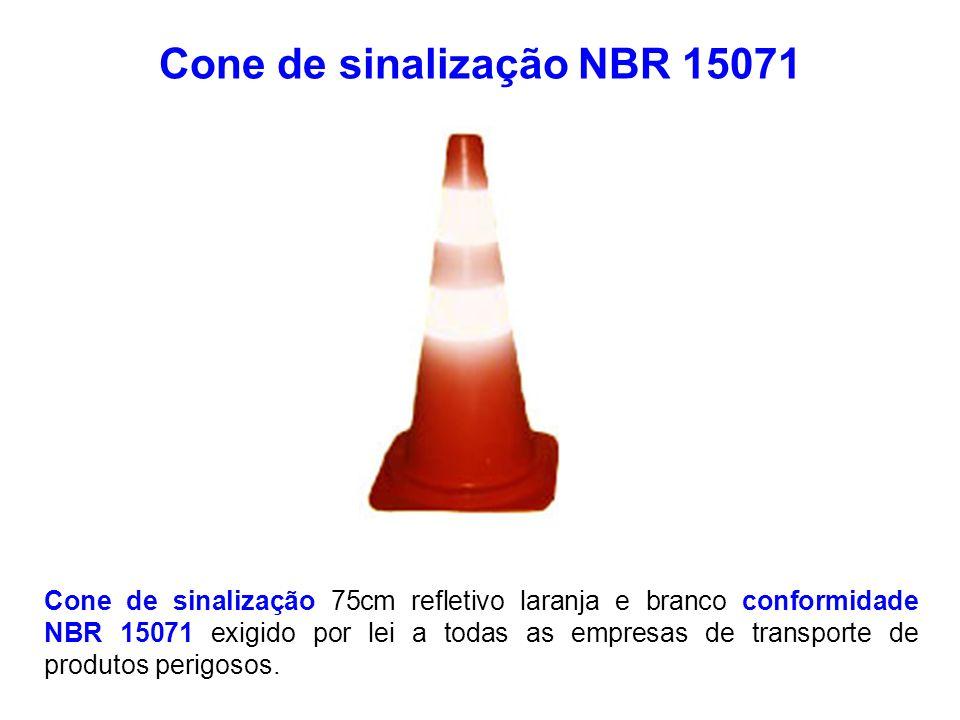 Cone de sinalização NBR 15071 Cone de sinalização 75cm refletivo laranja e branco conformidade NBR 15071 exigido por lei a todas as empresas de transp