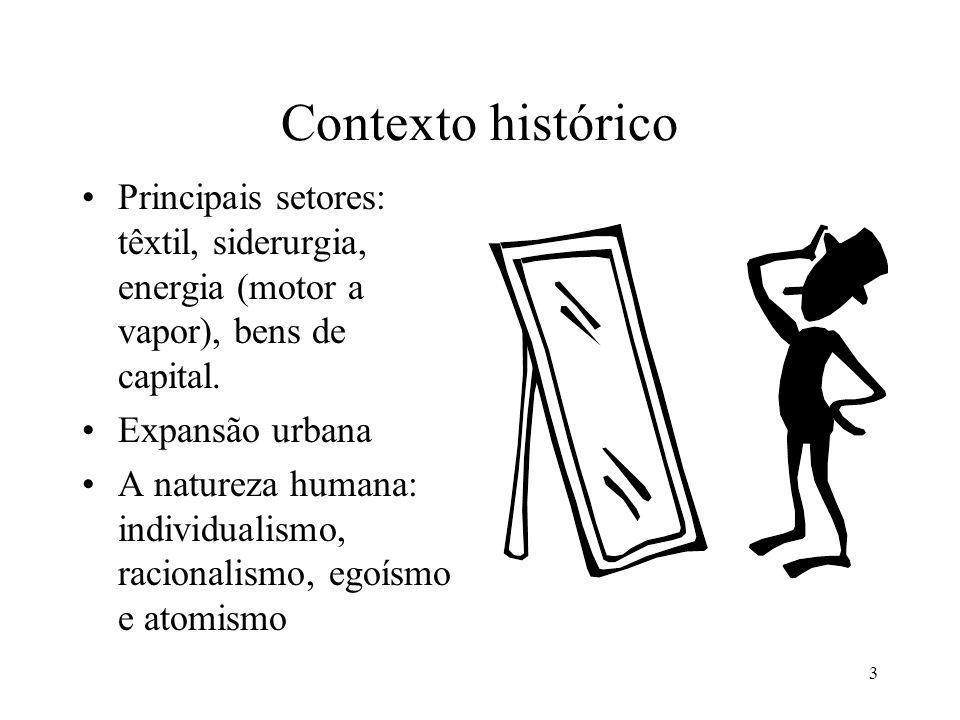 3 Contexto histórico Principais setores: têxtil, siderurgia, energia (motor a vapor), bens de capital.