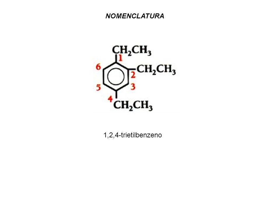 NOMENCLATURA 1,2,4-trietilbenzeno