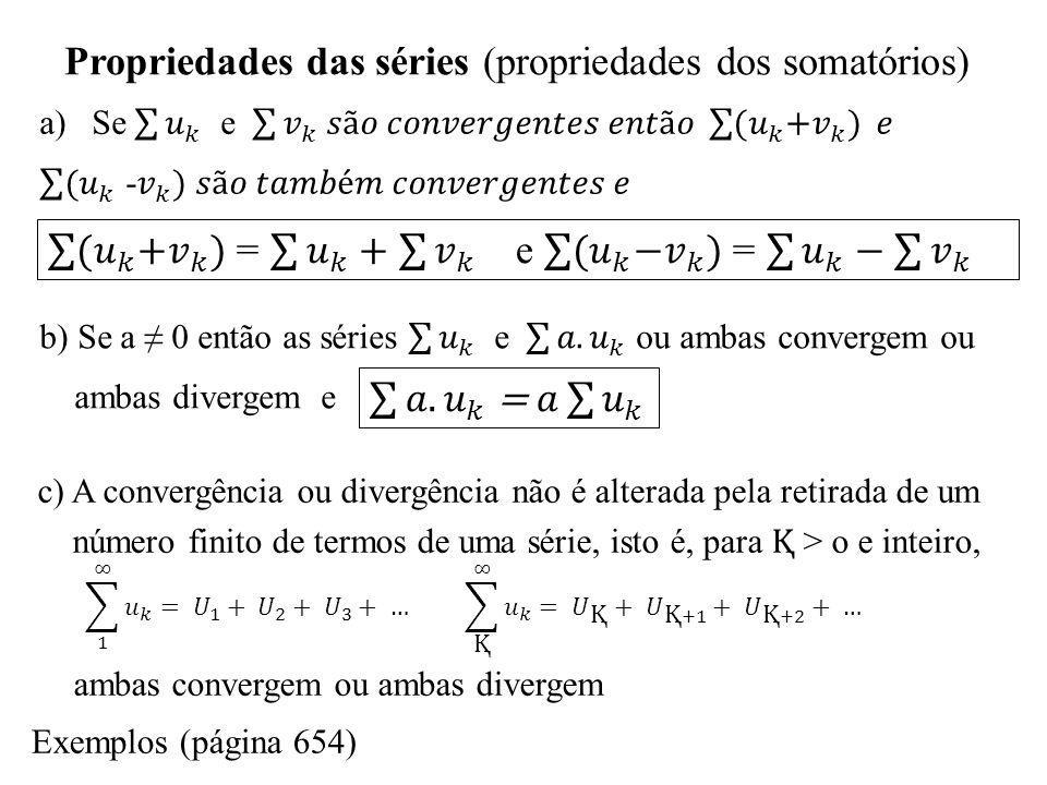 Testes de convergência Séries alternadas, convergências condicional e absoluta