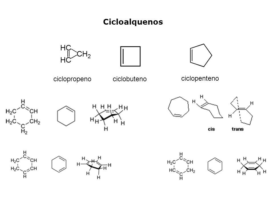Cicloalquenos ciclopropenociclobuteno ciclopenteno