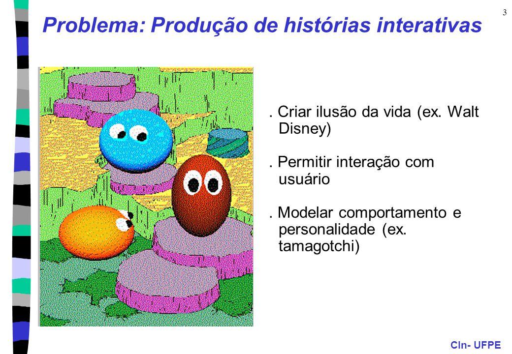 CIn- UFPE 3 Problema: Produção de histórias interativas.