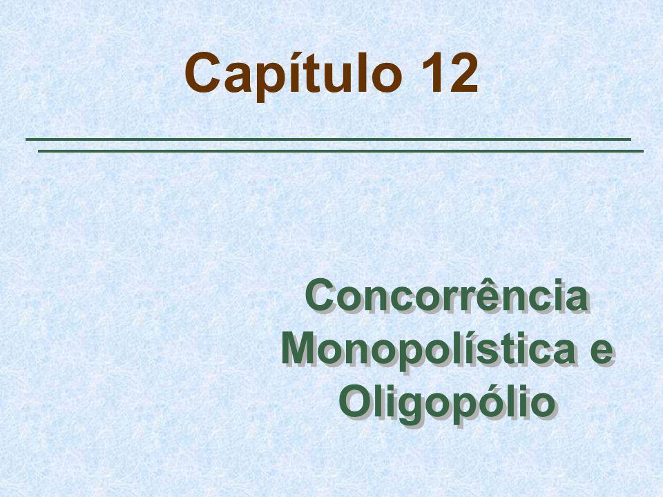 Slide 22 Oligopólio Curva de coalizão Q 1 + Q 2 = 15 Mostra todas as combinações de Q 1 e Q 2 que maximizam os lucros totais Q 1 = Q 2 = 7,5 O nível de produção é menor e os lucros são maiores relativamente ao equilíbrio de Cournot A curva da demanda linear – um exemplo
