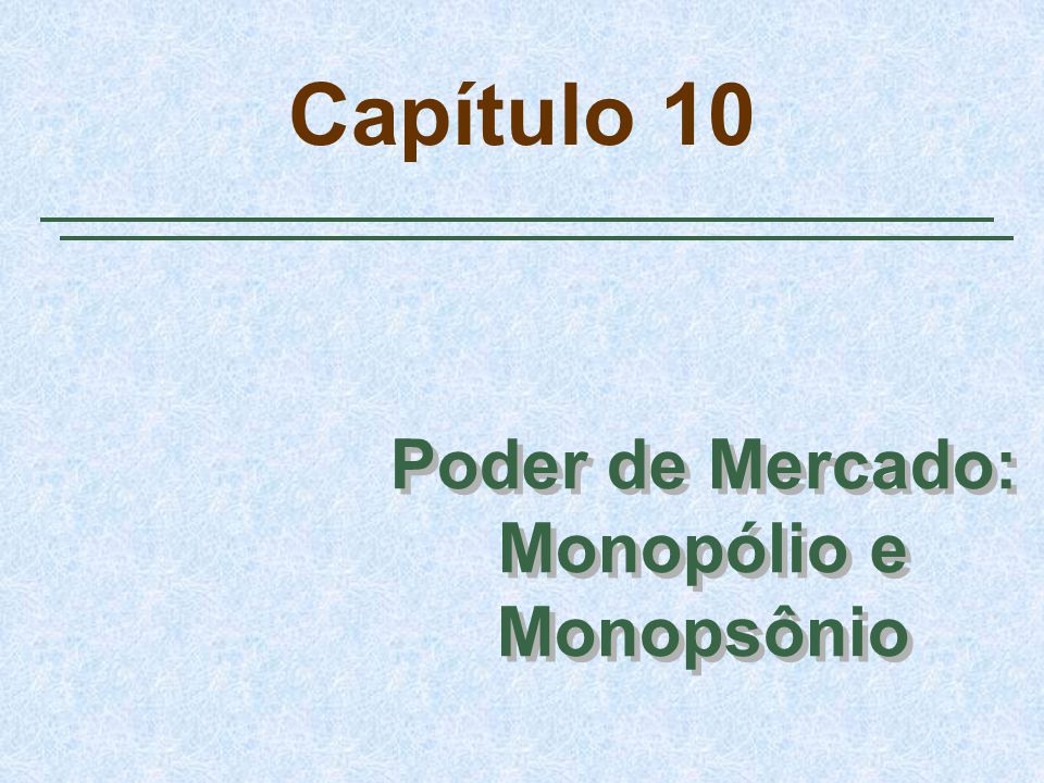 Slide 12 Monopólio Um exemplo Regra prática para determinação de preços