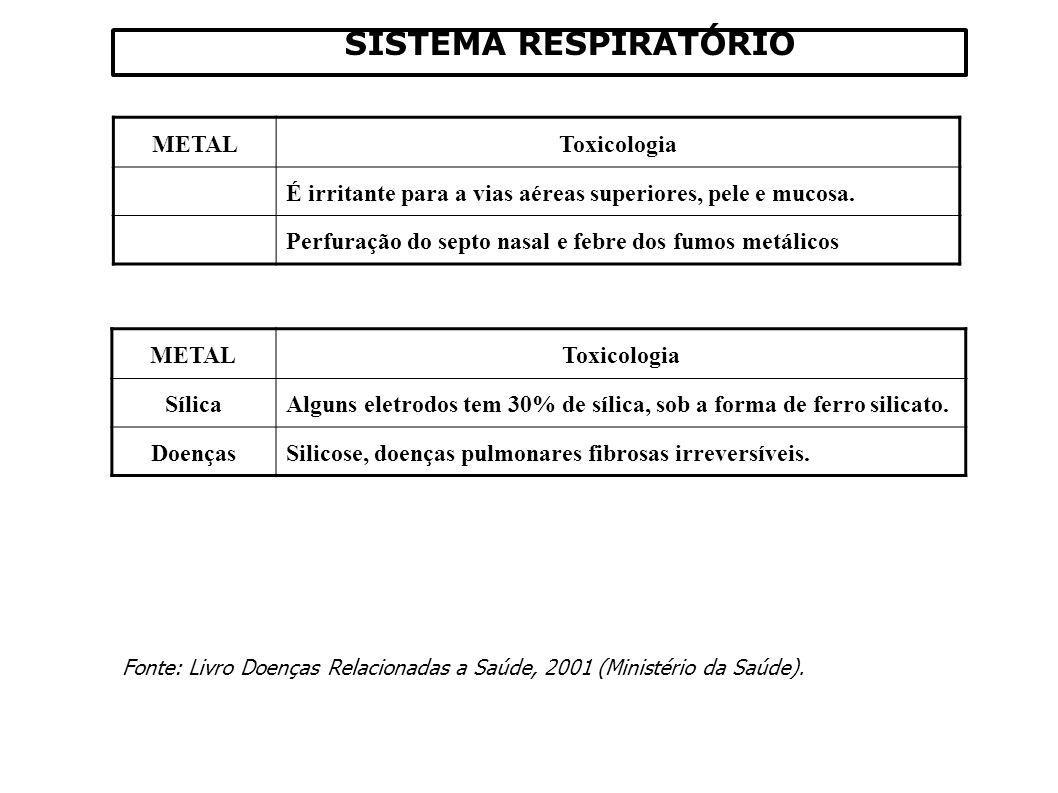SISTEMA RESPIRATÓRIO Fonte: Livro Doenças Relacionadas a Saúde, 2001 (Ministério da Saúde).