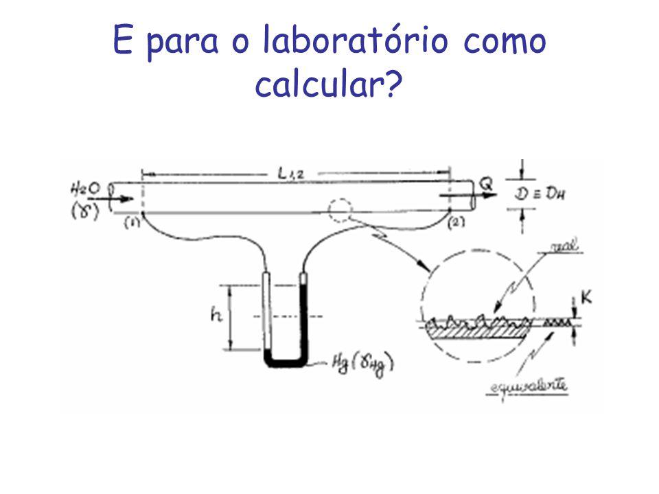 E para o laboratório como calcular?