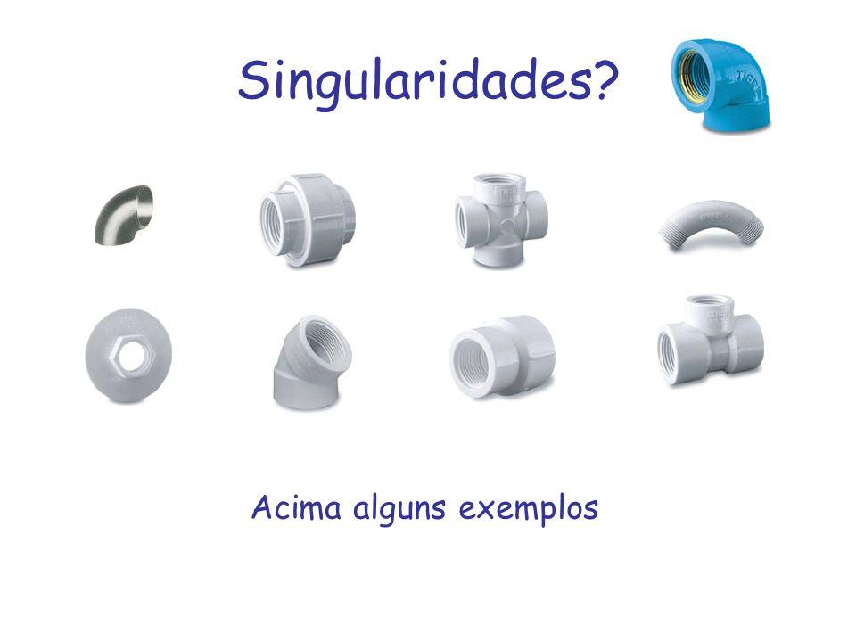Singularidades? Acima alguns exemplos