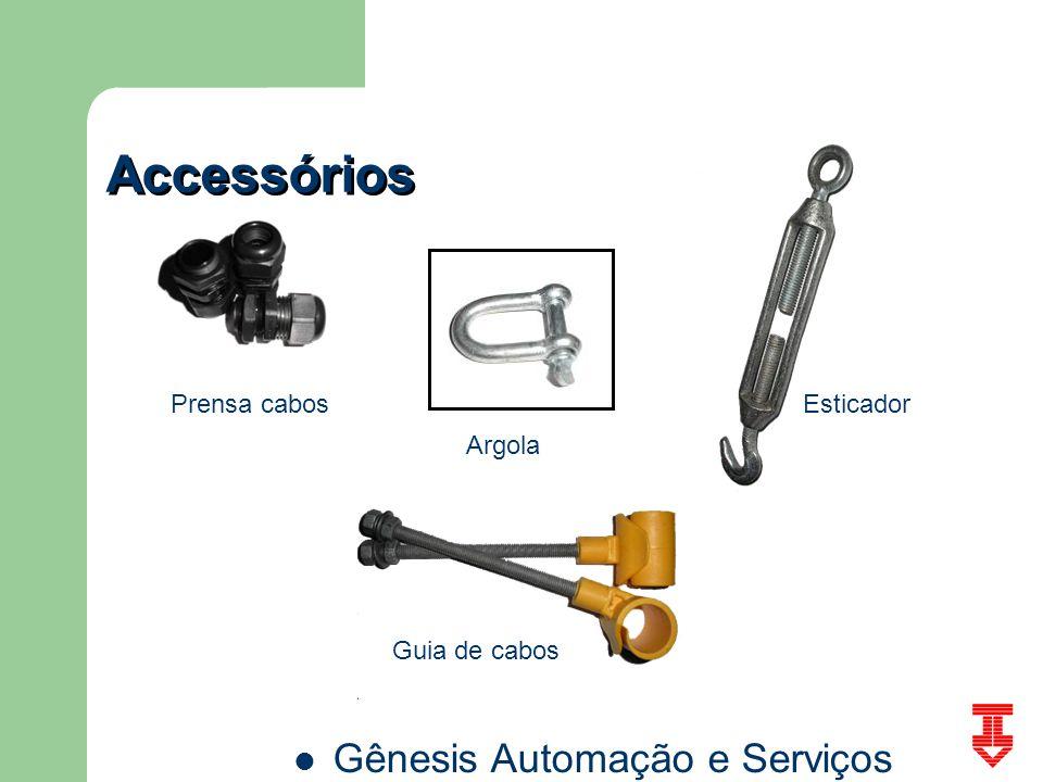 Gênesis Automação e Serviços Accessórios Prensa cabos Argola Esticador Guia de cabos