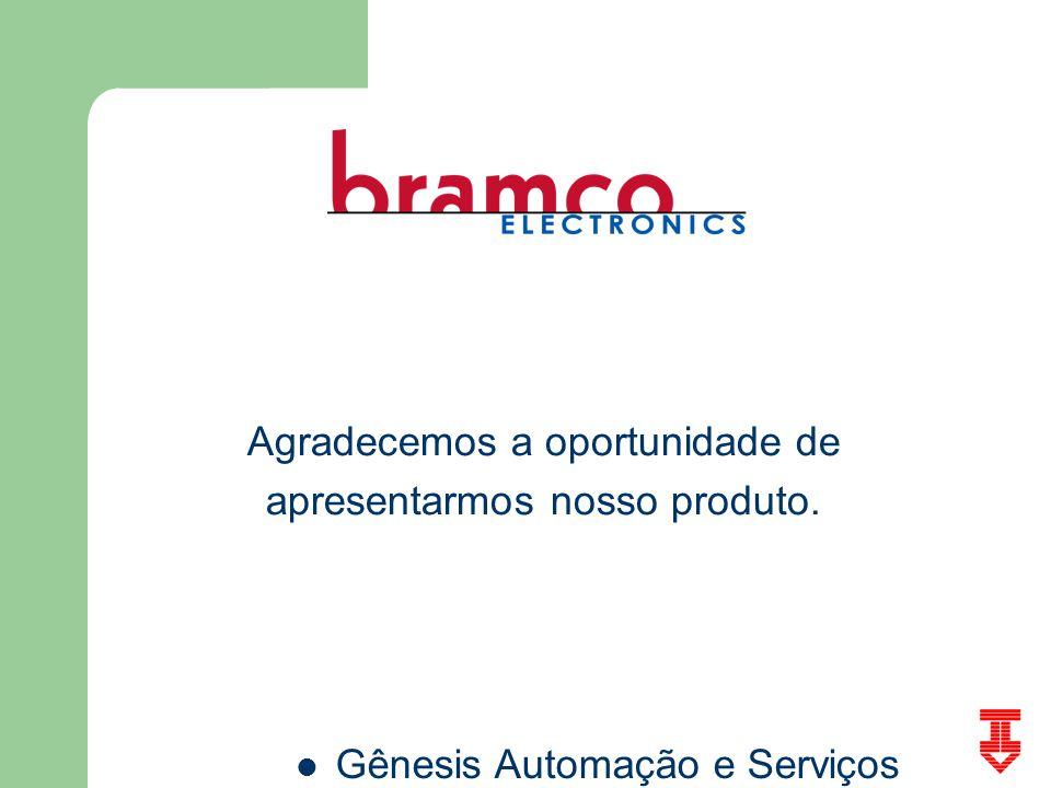 Gênesis Automação e Serviços Agradecemos a oportunidade de apresentarmos nosso produto.