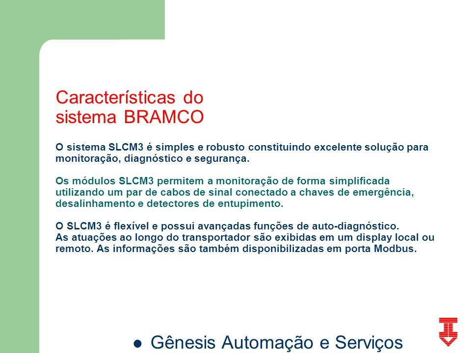 Características do sistema BRAMCO O sistema SLCM3 é simples e robusto constituindo excelente solução para monitoração, diagnóstico e segurança. Os mód