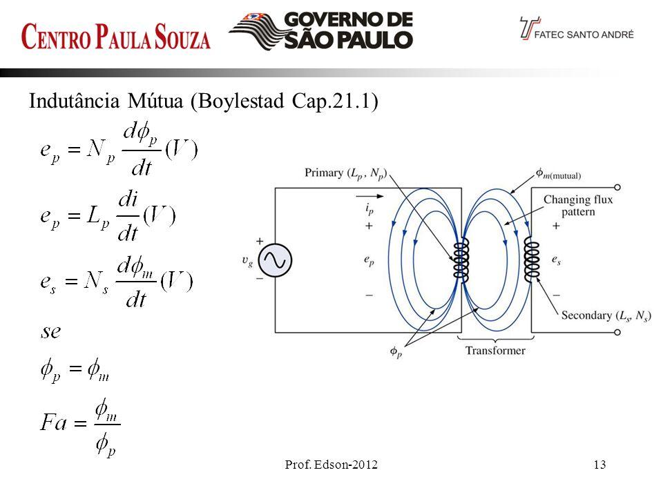Prof. Edson-201213 Indutância Mútua (Boylestad Cap.21.1)