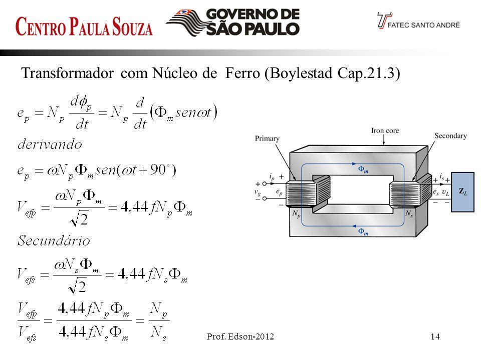 Prof. Edson-201214 Transformador com Núcleo de Ferro (Boylestad Cap.21.3)