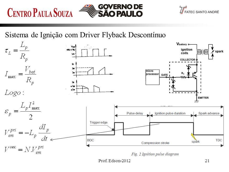 Prof. Edson-201221 Sistema de Ignição com Driver Flyback Descontínuo