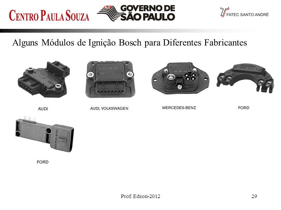 Prof. Edson-201229 Alguns Módulos de Ignição Bosch para Diferentes Fabricantes