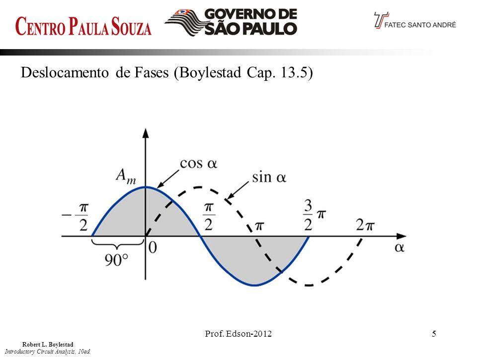 Prof. Edson-20125 Deslocamento de Fases (Boylestad Cap. 13.5) Robert L. Boylestad Introductory Circuit Analysis, 10ed.
