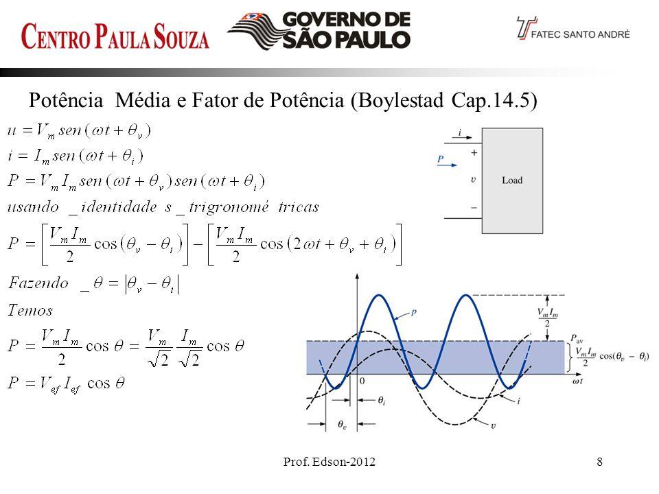 Prof. Edson-20128 Potência Média e Fator de Potência (Boylestad Cap.14.5)