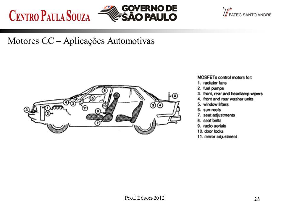 Prof. Edson-2012 28 Motores CC – Aplicações Automotivas