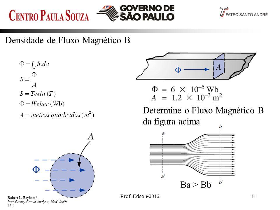 Prof.Edson-201211 Densidade de Fluxo Magnético B Robert L.