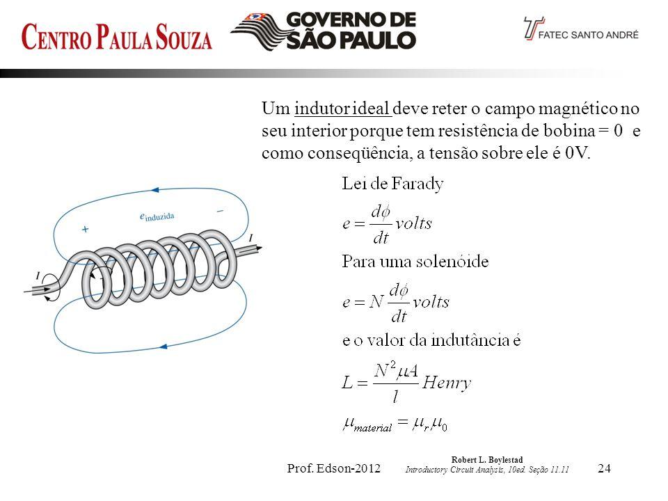Prof.Edson-201224 Robert L. Boylestad Introductory Circuit Analysis, 10ed.