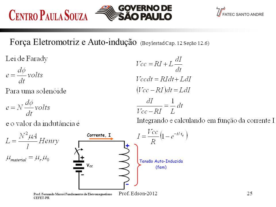 Prof.Edson-201225 Força Eletromotriz e Auto-indução (Boylestad Cap.