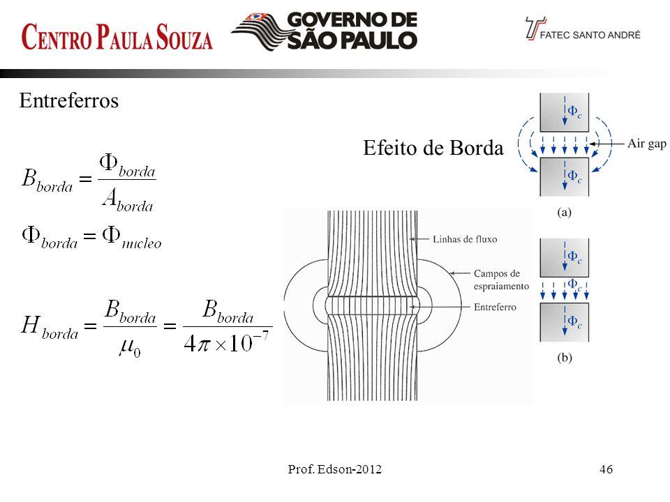 Prof. Edson-201246 Entreferros Efeito de Borda Ideal