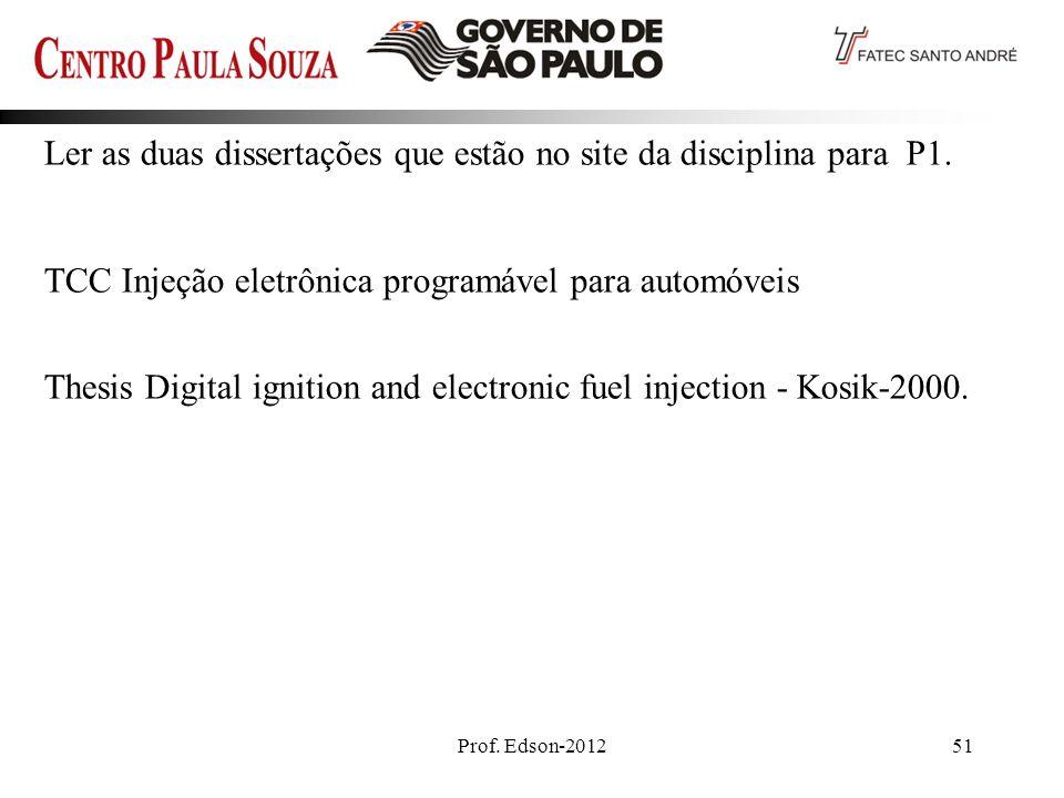Prof.Edson-201251 Ler as duas dissertações que estão no site da disciplina para P1.